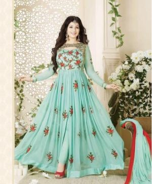 AVON HEAVY EMBROIDERY PARTY WEAR SALWAR SUITS IN SINGLE (2)