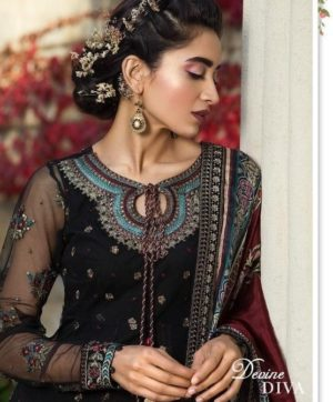 DEEPSY SUITS MARIA B EMBROIDERED SINGLE PIECE 2018