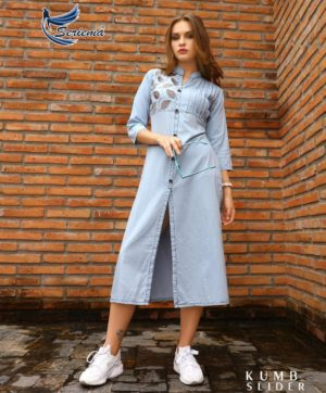 KUMB SLIDER COTTON DENIM KURTIS