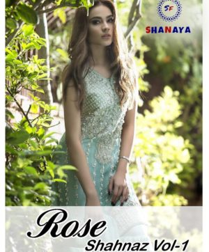 SANAYA FASHION ROSE SHAHNAZ VOL 1 IN SINGLE DESIGN NO. 01-A AT CHEAPEST PRICE