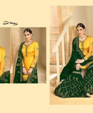 YOUR CHOICE GHUNGHAT YELLOW SALWAR SUITS