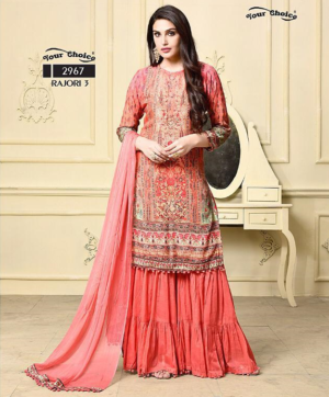 YOUR CHOICE RAJORI WHOLESALE EID COLLECTION IN SINGLES DESIGN NO. 2963