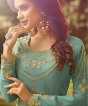 RAMA RAAZI GEORGETTE SALWAR SUITS IN SINGLE AT WHOLESALE RATE