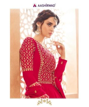AASHIRWAD MARIA LONG GWON STYLE SALWAR SUITS WHOLESALE