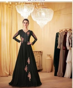 AASHIRWAD LONDON DREAM PARTY WEAR GOWN STYLE IN SINGLE WHOLESALE