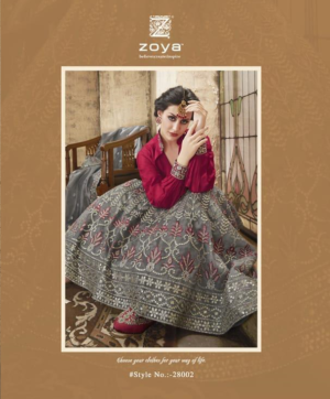 BUY HEAVY EMBROIDERY LEHNGA BY ZOYA FASHION WHOLESALE