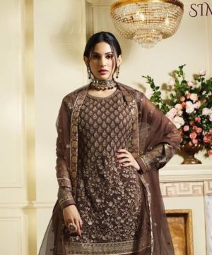 GLOSSY SIMMAR PAKISTANI SALWAR SUITS WHOLESALE