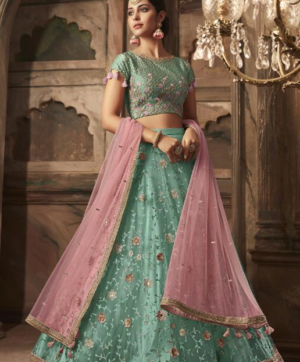 MASKEEN HEAVY LEHNGA WHOLESALE IN SINGLE