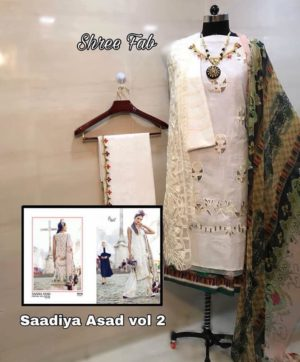 SHREE FAB SADIA ASAD FESTIVE COLLECTION VOL 2 IN SINGLE WHOLESALE