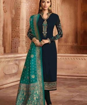 GLOSSY AARYAVI WEDDING WEAR SALWAR SUITS WHOLESALE IN SINGLE