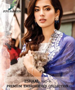 JUVI FASHION ESHAL VOL 8 PAKISTANI SAWLAR SUITS