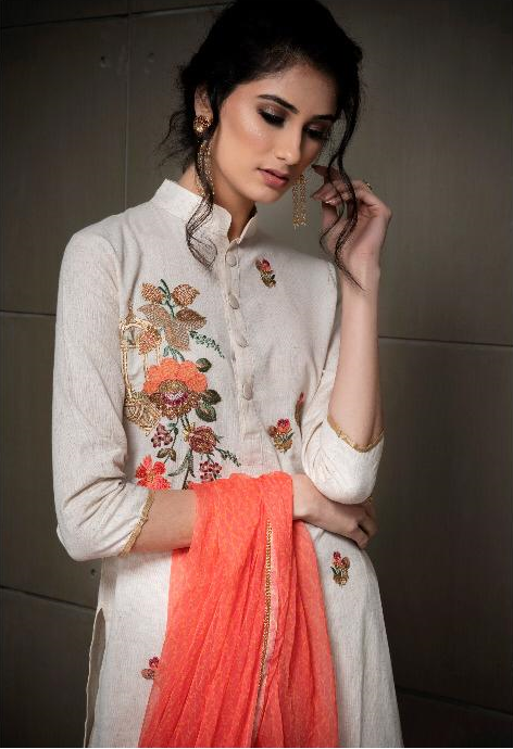 2cfd78d576 EVEN FLOW BY RVEE GOLD SALWAR SUITS WHOLESALE IN SINGLE