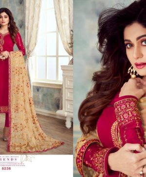 AASHIRWAD CREATION MAHIRA VOL 2 DRESS MATERIAL AT WHOLESALE PRICE (2)