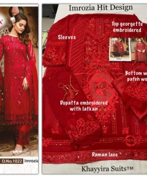 IMROZIA HIT DESIGN NO 1022 IN SINGLE BY KHAYYIRA SUITS