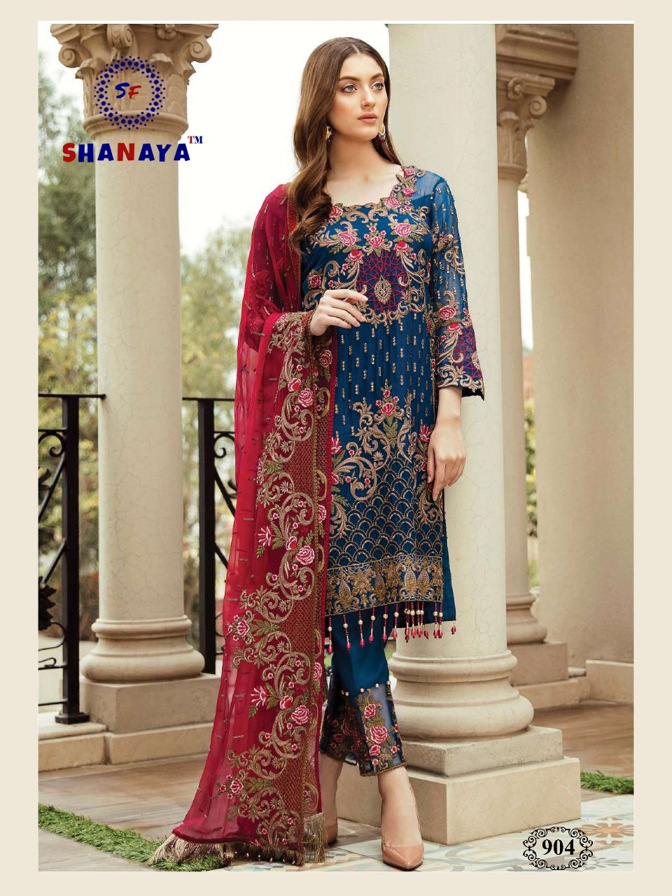SHANAYA ROSE AFROZEH IN SINGLE DESIGN NO 902 SALWAR SUITS COLLECTION (3)