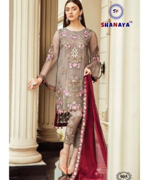 SHANAYA ROSE AFROZEH IN SINGLE DESIGN NO 905  SURAT SUITS ONLINE SINGLES