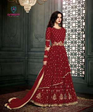 ARIHANT DESIGNER VIDHISHA GOLD IN SINGLE SALWAR SUITS WHOLESALER