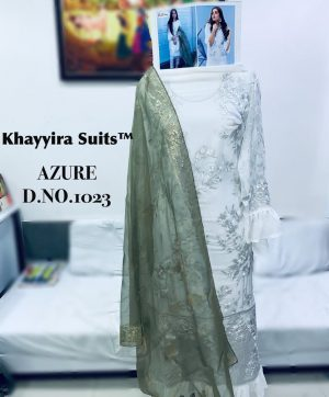 KHAYYIRA AZURE IN SINGLE NO 1023 PAKISTANI SUITS DEALER