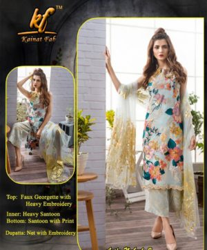 KAINAT FAB GEORGETTE PAKISTANI SUITS