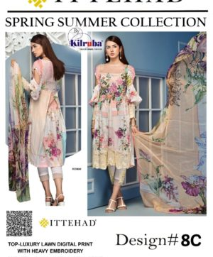 ITTEHAD SPRING SUMMER COLLECTION NO 8C ROMANZA IN SINGLE