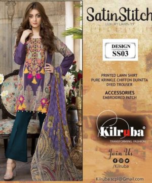KILRUBA JANNAT LAWN ART PAKISTANI SUITS WHOLESALE