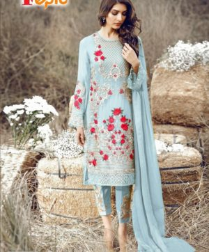 FEPIC ROSEMEEN 3004 BLUE PAKISTANI SUITS