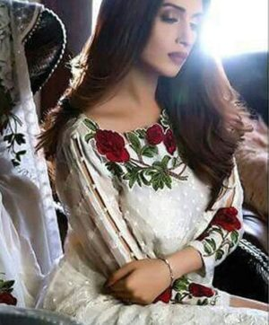 GUL AHMED WHITE PAKISTANI SUIT  WHOLESALER
