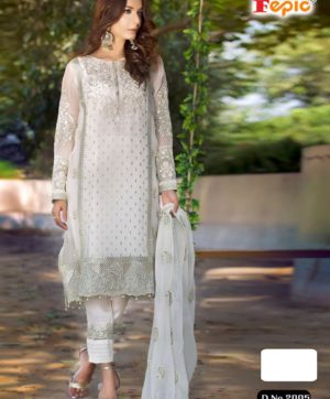 FEPIC ROSEMEEN 2005 WHITE PAKISTANI SUIT