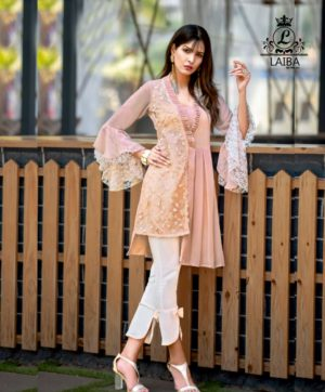 LAIBA LONG TUNIC WITH CIGARETTE PANTS AM VOL 23 PINK