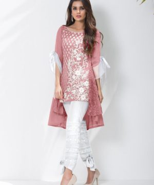LUXURY PREET PINK KURTI WITH EXCLUSIVE PANTS