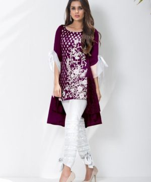 LUXURY PREET WINE KURTI WITH EXCLUSIVE PANTS