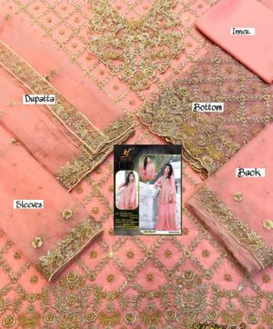 KAINAT FAB ATIF RIAZ 2 PEACH BRIDAL COLLECTION
