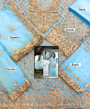 KAINAT FAB ATIF RIAZ 2 BLUE BRIDAL COLLECTION