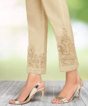 CIGARETTE PANTS ONLINE PAKISTANI LADIES SKIN COLOR