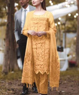 RANG RASIYA YELLOW PAKISTANI SUITS WHOLESALER