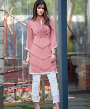 ZARA STUDIO PINK TUNICS WITH CIGARETTE PANTS