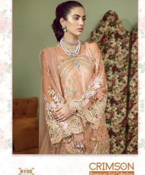 SHREE FABS CRIMSON PREMIUM EID COLLECTION DESIGN NO 8155