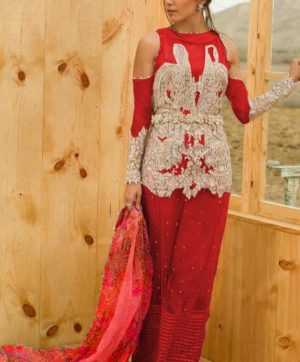 LATEST EMBROIDERED PAKISTANI SUITS 29002 RED