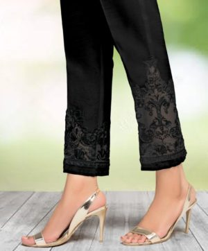 CIGARETTE PANTS ONLINE PAKISTANI LADIES BLACK COLOR