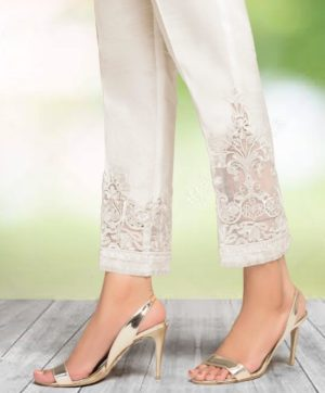 CIGARETTE PANTS ONLINE PAKISTANI LADIES WHITE COLOR