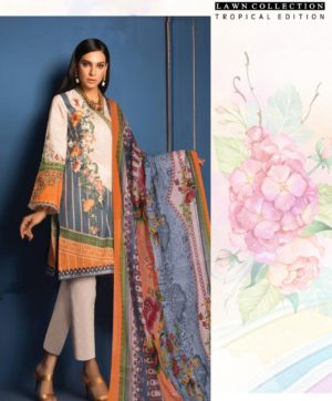 FIRDOUS LAWN COTTON TROPICAL EDITION DESIGN NO 03