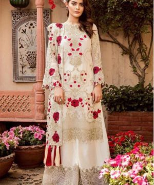 FEPIC ROSEMEEN CARNIVAL 41004 WHITE PAKISTANI SUIT