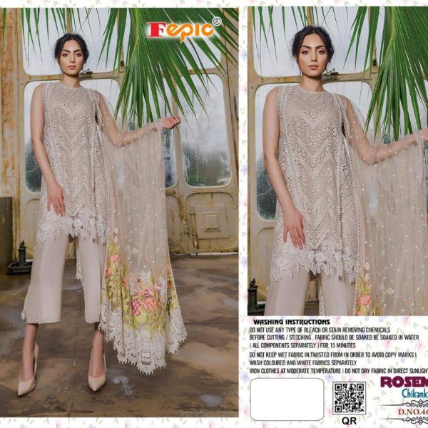FEPIC ROSEMEEN CHIKANKARI IN SINGLE 46006 DESIGN NO