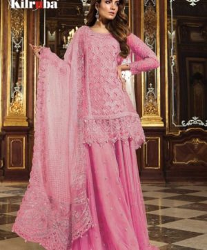KILRUBA K 12 PAKISTANI GEORGETTE SUITS WHOLESALER10