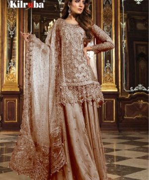 KILRUBA K 12 PAKISTANI GEORGETTE SUITS WHOLESALER5