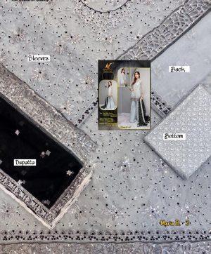 KAINAT FAB MARIA B 3 BRIDAL BLACK DUPATTA
