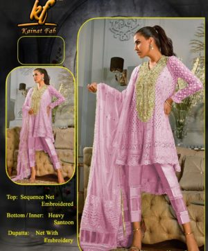 KAINAT FAB ANNUS ABRAR VOL 2 PINK COLOR IN SINGLE