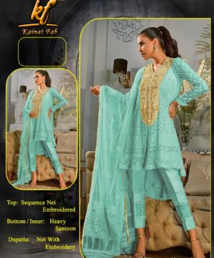 KAINAT FAB ANNUS ABRAR VOL 2 SKY BLUE COLOR IN SINGLE