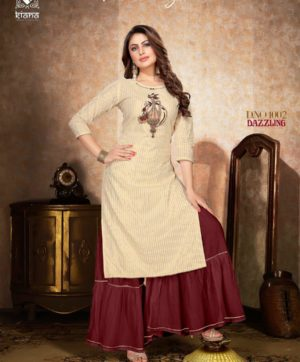 KIANA DAZZLING D 1002 KURTI WITH SHARARA BOTTOM