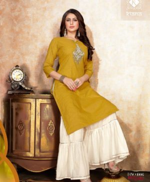KIANA DAZZLING D 1006 KURTI WITH SHARARA BOTTOM